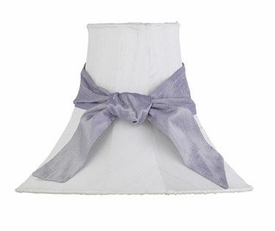 white medium shade-lavender sash