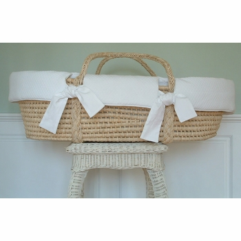 white moses basket by sweet william