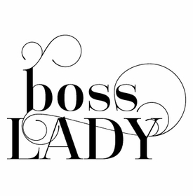 white on bright boss lady note pad
