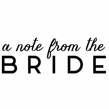 white on bright bride note pad