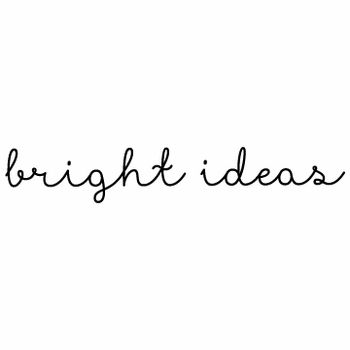 white on bright bright ideas note pad