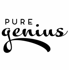white on bright genius note pad