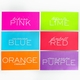 white on bright hustle note pad