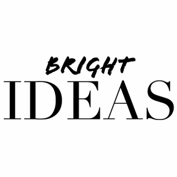 white on bright ideas note pad