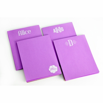 White on Bright Personalized Small Note Pad