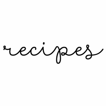 white on bright recipes note pad