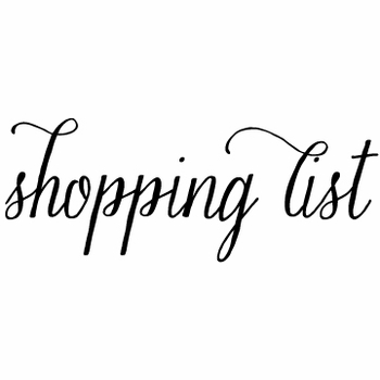 white on bright shopping list note pad