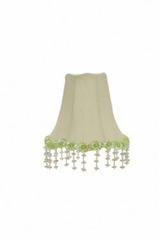 white pearl flower chandelier shade