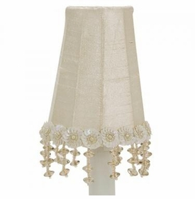 white pearl flower sconce shade