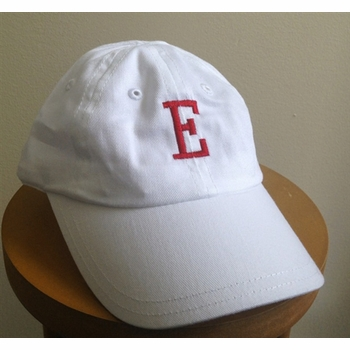 white personalized baby baseball cap