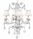 white petal flower chandelier shade
