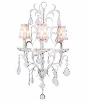 white pink petal flower sconce shade