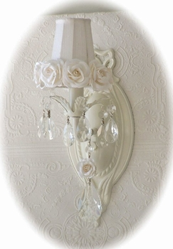 White rose-shades for Chandeliers or sconces
