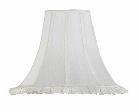 white ruffle large shade
