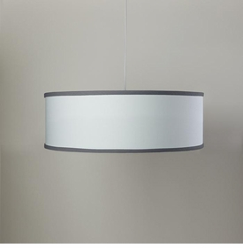 white shallow cylinder light - pewter