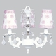 white stacked glass ball bright idea chandelier - petal flower shades