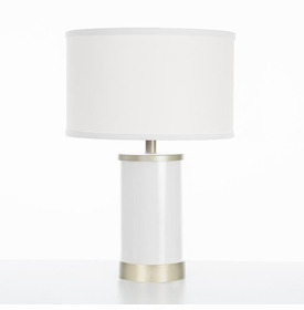 white table lamp gold finish