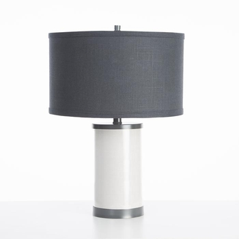 white table lamp gunmetal finish