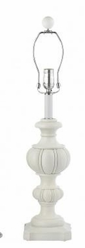 white urn lamp-blue shade