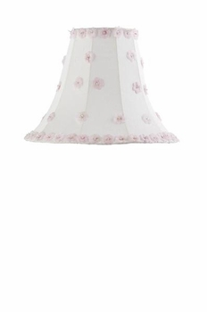 white urn lamp-pink/white petal flower large shade