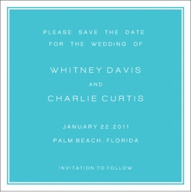 whitney & charles save the date card