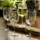 wine stemware  set of 4 - (glass) personalized