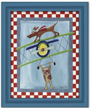 wing walker wall art - black frame -SOLD OUT