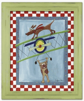 wing walker wall art - green frame - SOLD OUT