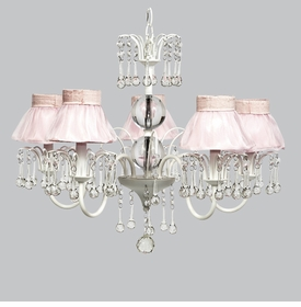 wistful chandelier - pink sheer skirt shades
