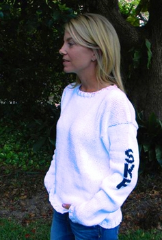 womens initial sweater sleeve