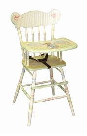 wooden high chair - (enchanted forest motif) - discontinued