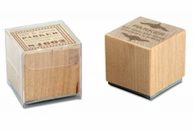 wooden stamps & pads