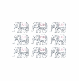 wrapping paper circus elephants