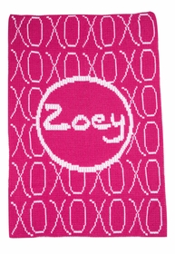 xoxo and name stroller blanket