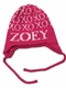 xoxo name hat with earflaps