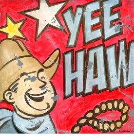 yeehaw wall art