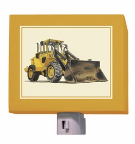 yellow bulldozer nightlight