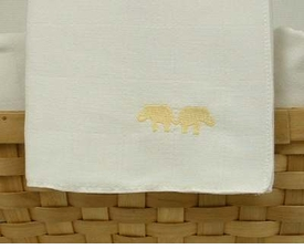 yellow elephant nappie burp cloths by sweet william