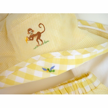 yellow on safari embroidered sun set by gordonsbury