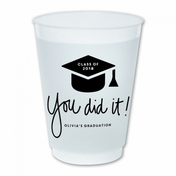You Did It Graduation Cups