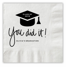 You Did It Graduation Napkins