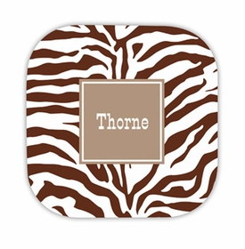 zebra chocolate hardback rounded coaster<br>(set of 4)