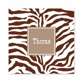 zebra chocolate square paper coaster<br>set of 50