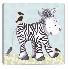 zebra wall art - blue