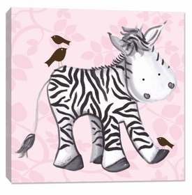 zebra wall art - pink