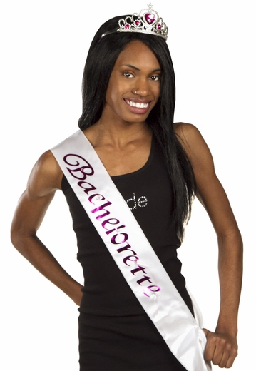 Bachelorette Sash - White Flashing