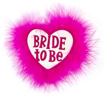 Bride To Be Heart Button