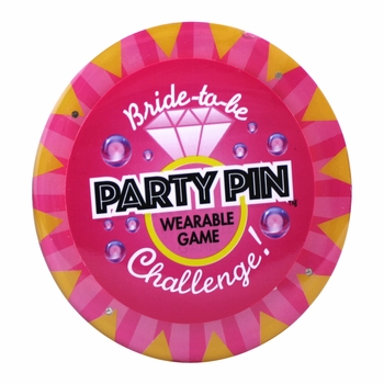 Bride-to-Be Party Pin Wearable Game
