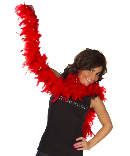 Feather Boa - Fiery Red