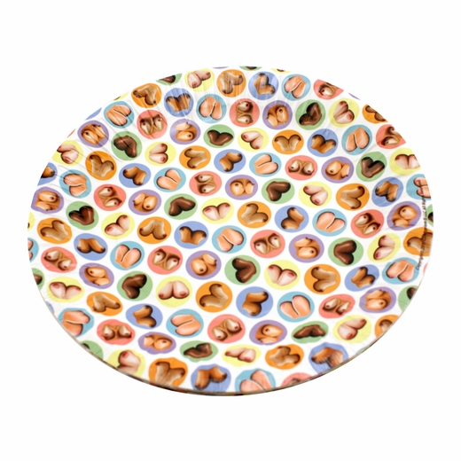 Boob-Covered Plates